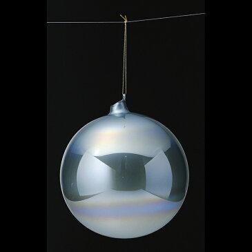 アスカ/カラーガラスボール ブル-/AX68744-9【01】【取寄】《 店舗ディスプレイ クリスマス飾り ボールオーナメント 》