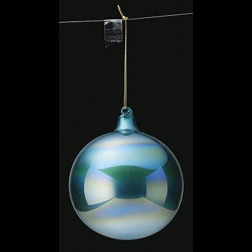 アスカ/カラーガラスボール×3 タ-コイズブルー/AX68745-051T【01】【取寄】《 店舗ディスプレイ クリスマス飾り ボールオーナメント 》
