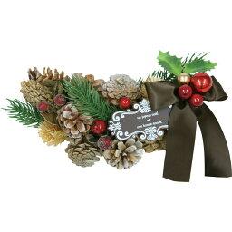 【造花】てづくり/クリスマススワッグS/28-096【01】【取寄】 花器、リース リース土台 スワッグ