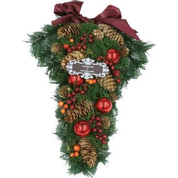 【造花】てづくり/クリスマススワッグL/28-091【01】【取寄】《 花器、リース リース土台 スワッグ 》