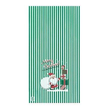 ササガワ(タカ印)/OPPバッグ プレゼントサンタ緑 S 50枚/ 50-1160【01】【01】【取寄】《 ラッピング用品 ・梱包資材 ラッピング袋・梱包袋 ギフトパック 》