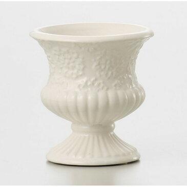即日★クレイ/motifs de fleurs WHITE/120-322-100《 花器、リース 花器・花瓶 陶器花器 》