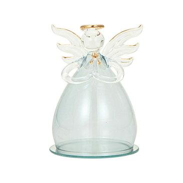 OrangeDeco/ガラスエンジェル ブルー/K-2612【01】【取寄】《 花器、リース 花器・花瓶 ガラス花器 》