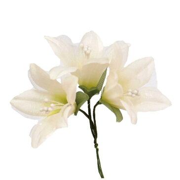 【造花】サンセイ/DSI-03リリー#26ヒワ 1束/台紙付/541274【01】【取寄】[3個]《 造花(アーティフィシャルフラワー) 造花 花材「や行」 ユリ(百合)・リリー 》