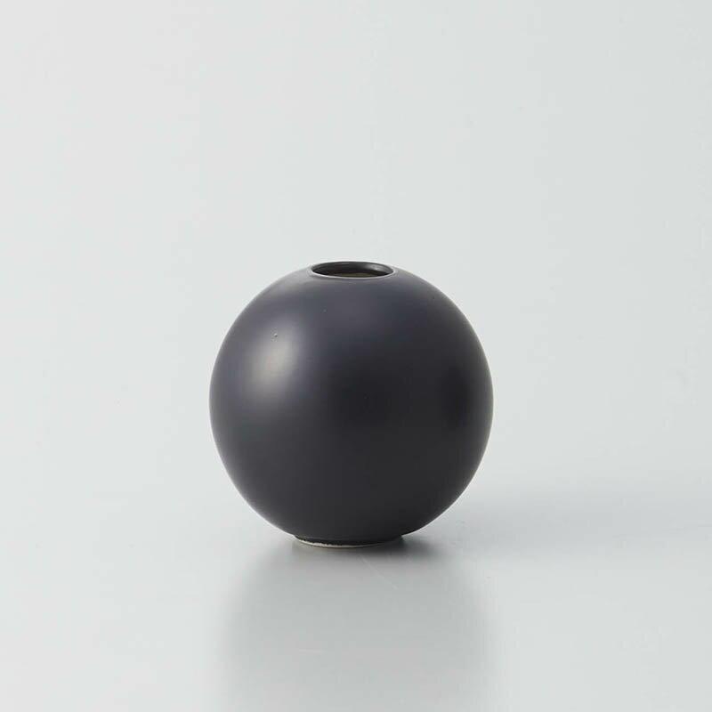 即日 クレイ/orb MATT BLACK/326-595-801花器、リース 花器・花瓶 陶器花器 手作り 材料