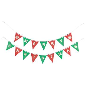 東京堂/クリスマスフラッグガーランド 2本/XG001657【01】【01】【取寄】《 店舗ディスプレイ クリスマス飾り ガーランド・チェーン 》