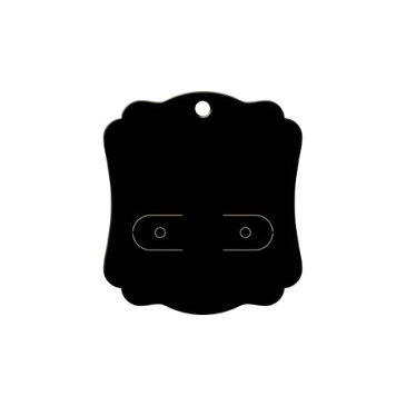 original works/ピアス台紙 ブラック S 30枚/19-2620【01】【01】【取寄】[5冊]