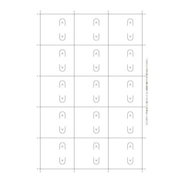 original works/OA対応ピアス台紙 ホワイト S 15シ−ト/44-7651【01】【01】【取寄】
