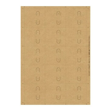 original works/OA対応ピアス台紙 クラフト S 15シ−ト/44-7652【01】【01】【取寄】