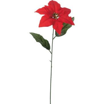 【造花】YDM/ベルベットシングルポインセチア レッド/FS-6983-R【01】【01】【取寄】《 造花(アーティフィシャルフラワー) 造花 花材「は行」 ポインセチア 》