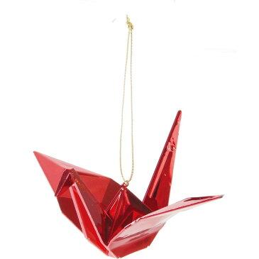 YDM/アクリル折鶴オーナメント R/MCO-0005【01】【01】【取寄】《 店舗ディスプレイ 冬の装飾品 お正月飾り 》