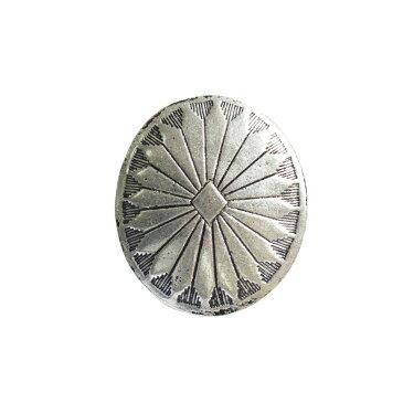 NBK/コンチョボタン シルバー 3.5cm 1個/SGM-CONB2【01】【取寄】《 手芸用品 ソーイング資材 ボタン 》