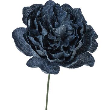 即日★【造花】YDM/デニムピオニーピック ブルー/FA-7182-BLU《 造花(アーティフィシャルフラワー) 造花 花材「さ行」 シャクヤク(芍薬)・ボタン(牡丹)・ピオニー 》