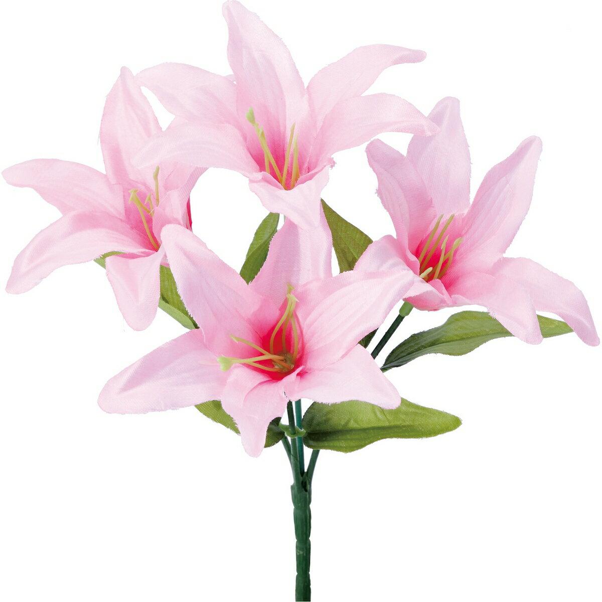 【造花】YDM/リリーブッシュ ピンク/FB-2491-P【01】【取寄】