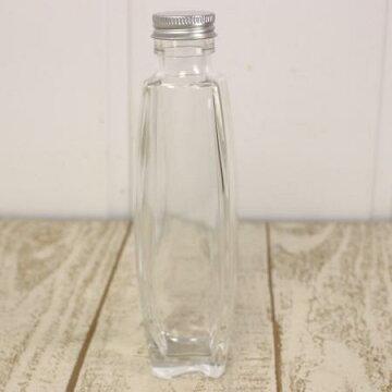 即日★ハーバリウム瓶(パルファム)200mlアルミ銀キャップ付【00】《花資材・道具ハーバリウム材料ハーバリウムオイル》