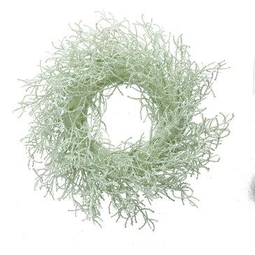 【造花】YDM/30cmスギリース ホワイトグリーン/GLA-1417-W/G【01】【取寄】《 花器、リース リース土台 造花 》
