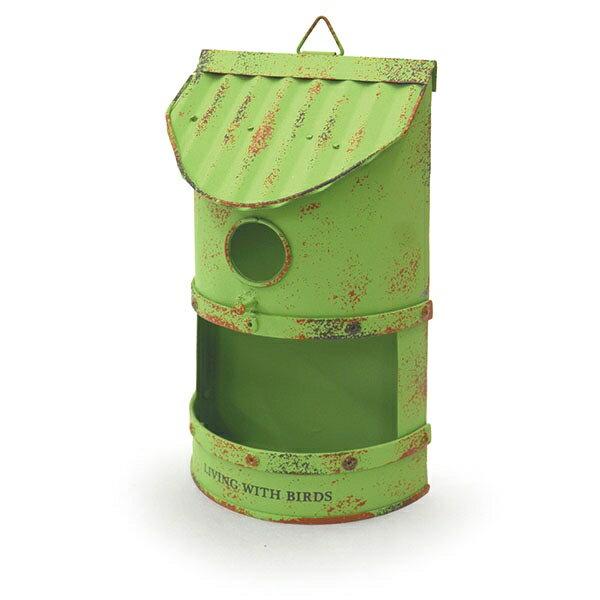 azi-azi/ティンバードハウスプランターC/グリーン/AZ-1362【01】【取寄】ガーデニング用品 プランター アイアン・ブリキ 手作り 材料