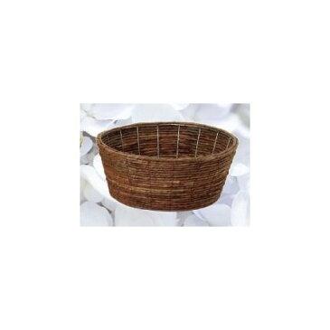 カルチベーター/バナナ皮丸型寄鉢用籠L/011332【01】【取寄】花器、リース 花器・花瓶 バスケット(花かご) 手作り 材料