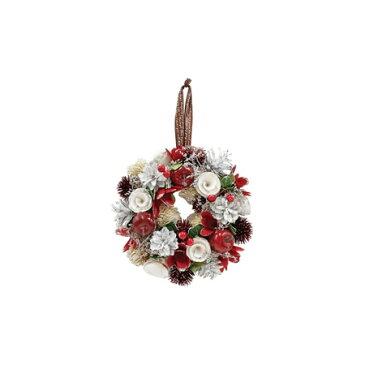 丸和貿易/グレイスリース スノーホワイト (S)/400855501【01】【取寄】《 花器、リース リース完成品 天然素材 》