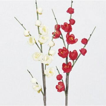 【造花】アスカ/梅×14#001ホワイト/A-73293-1【01】【取寄】《造花(アーティフィシャルフラワー)造花花材「あ行」ウメ(梅)》