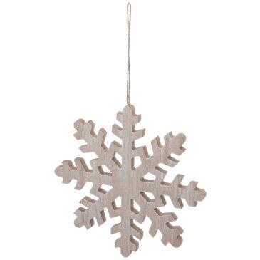 YDM/ウッディースノーフレークオーナメント/COH-884【01】【01】【取寄】《 店舗ディスプレイ クリスマス飾り ハンギングオーナメント 》