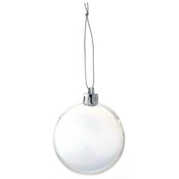 60mmクリアパールボール W−2857/12コイリ/25-2857-0【01】【取寄】《 店舗ディスプレイ クリスマス飾り ボールオーナメント 》