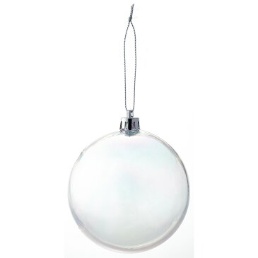 80mmクリアパールボール W−2858/8コイリ/25-2858-0【01】【取寄】《 店舗ディスプレイ クリスマス飾り ボールオーナメント 》