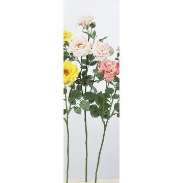【造花】アスカ/ファリネローズ×3つぼみ×4#013ライトピンク/A-33605-013【01】【01】【取寄】《造花(アーティフィシャルフラワー)造花花材「は行」バラ》