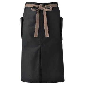 Paseo/帆布エプロン(ミディアム)/64-09BK【01】【取寄】《ガーデニング用品ファッションエプロン》