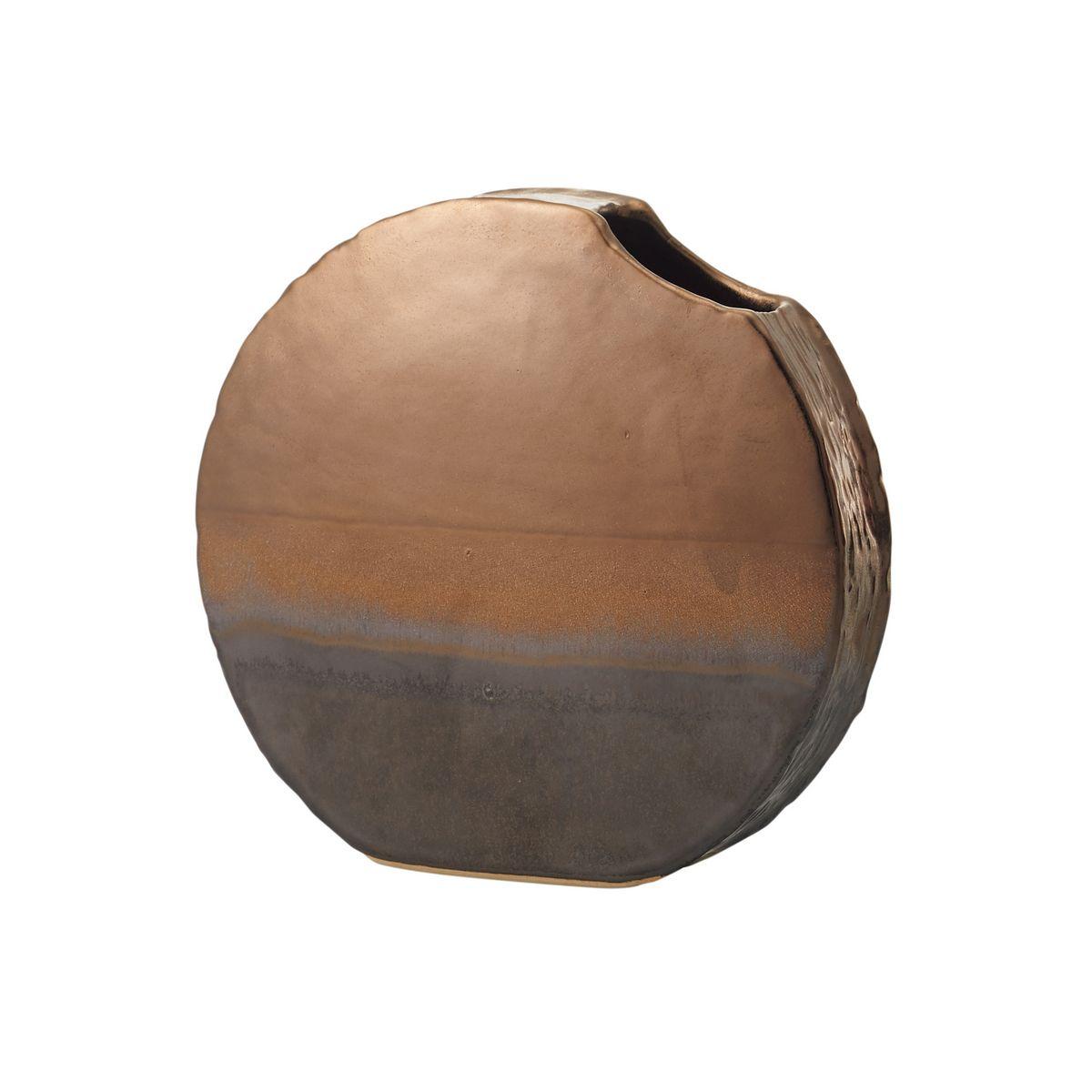 花材・フラワーアレンジメント資材, アレンジメント用花器 lunar mare BROWN METALLIC177-356-20101