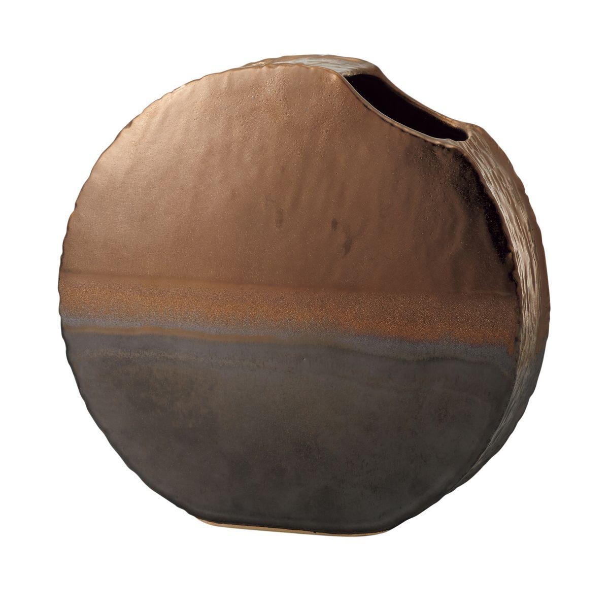 花材・フラワーアレンジメント資材, アレンジメント用花器 lunar mare BROWN METALLIC177-357-20101
