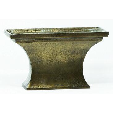 PTMD/Alu Gold brass trough vase/659822【07】【取寄】花器、リース 花器・花瓶 アルミ花器 手作り 材料