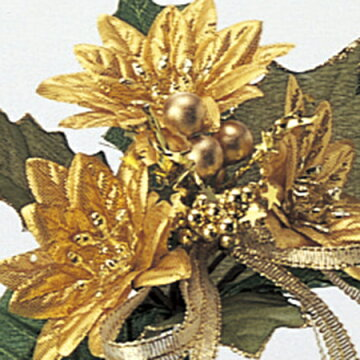 『【AS】【造花】アスカ/AX60353ポインセチアピック#040ゴ-ルド/72-60353-40』造花アートフラワー