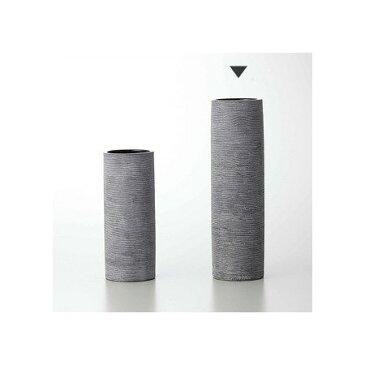 即日★クレイ/EarthenwareCylinder GRAY/144-745-860《 花器、リース 花器・花瓶 陶器花器 》