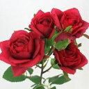 即日★【造花】FIAN/ローズスプレーメンフィス×5/FR0022-RED《 造花(アーティフィシャルフラワー) 造花 花材「は行」 バラ 》