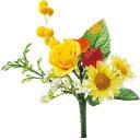 即日★【造花】YDM/ミニローズミックスブッシュ イエローオレンジ/FB2360-YOR|造花 バラ【00】《 造花(アーティフィシャルフラワー) 造花 花材「は行」 バラ 》