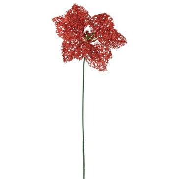 【造花】YDM/シャイニングシングルポインセチア レッド/FS6913-R【01】【01】【取寄】《 造花(アーティフィシャルフラワー) 造花 花材「は行」 ポインセチア 》