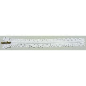 NBK/レースファスナー 15cm 10本 白/LACEF15-501【01】【取寄】《 手芸用品 ソーイング資材 ファスナー 》
