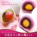 銘菓五色もちと銘菓松と梅6コ入【誕生日】【婚礼】【内祝】