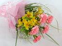 ピンクのカーネーションとアルストロメリアの花束