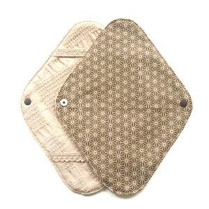 【数量限定】オーガニックコットンの布ナプキンホルダー1枚入り落ちないずれない布ナプキン初心者におすすめ!和柄麻の葉柄