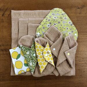 布ナプキン福袋2021セット華布生理用おりものオーガニック送料無料華布のオーガニックコットンの布ナプキンお得星セットスターターセット妊活温活冷えかぶれ