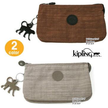 Kipling ポーチ K13265 キプリング Creativity L Basic 化粧ポーチ アクセサリーポーチ ペンシルケース モンキーチャーム ブランド ag-862500