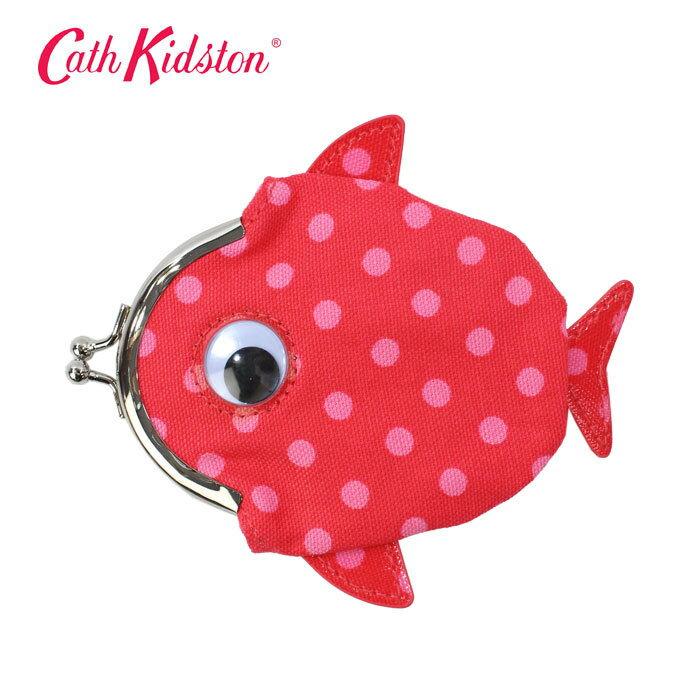 キャスキッドソン がま口 826150 Fish Clasp Purse Little Spot キッズ フィッシュ クラスプバース リトルスポット Brilliant Red コインケース 小銭入れ 小物入れ Cath Kidston ブランド ag-1959