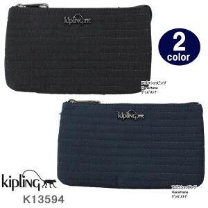 Kipling キプリング ポーチ K13594 Creativity L ステッチ型押しデザイン 化粧ポーチ  ブランド ag-915900