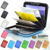 カードケースアルミニウムワンタッチクレジットカード入れカードホルダー11色名刺入れ蛇腹式(ジャバラ)ビジネスクレジットカード