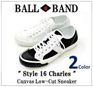 【BALLBAND/ボールバンド】-Style16Charles/キャンバスローカットスニーカー-