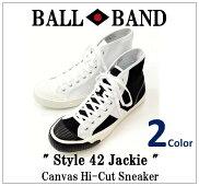 【BALLBAND/ボールバンド】-Style42Jackie/キャンバスハイカットスニーカー-