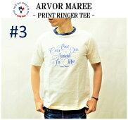 【ARVORMAREE/アルボーマレー】-PRINTRINGERTEE#3/プリントリンガーT#3-