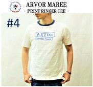 【ARVORMAREE/アルボーマレー】-PRINTRINGERTEE#4/プリントリンガーT#4-